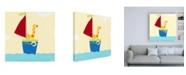 "Trademark Global June Erica Vess Sailboat Adventure I Canvas Art - 36.5"" x 48"""