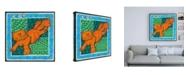"""Trademark Global Lisa Choate Whimsical Cat Canvas Art - 36.5"""" x 48"""""""