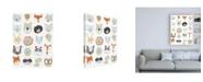 "Trademark Global June Erica Vess Friendly Faces Canvas Art - 36.5"" x 48"""