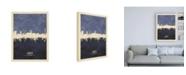 "Trademark Global Michael Tompsett Lubeck Germany Skyline Navy Canvas Art - 27"" x 33.5"""