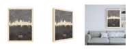 "Trademark Global Michael Tompsett Oxford England Skyline Gray Canvas Art - 15.5"" x 21"""