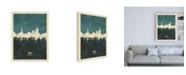 "Trademark Global Michael Tompsett Bath England Skyline Cityscape Teal Canvas Art - 15.5"" x 21"""