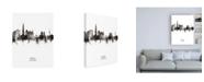 "Trademark Global Michael Tompsett Seoul Skyline South Korea Portrait II Canvas Art - 15.5"" x 21"""