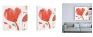 "Trademark Global Sheila Golden Crimson Poppies Abstract 1 Canvas Art - 36.5"" x 48"""
