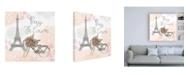 "Trademark Global Laura Marshall Sweet Paris II Canvas Art - 19.5"" x 26"""