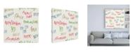 "Trademark Global Emily Adams Christmas Critters Bright Pattern IB Canvas Art - 15.5"" x 21"""