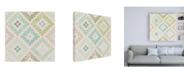 "Trademark Global Mary Urban Bohemian Cactus Step 07 v2 Canvas Art - 36.5"" x 48"""