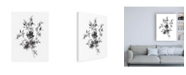 "Trademark Global Wild Apple Portfolio Sketchbook Flowers on White II Canvas Art - 36.5"" x 48"""