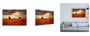 "Trademark Global John Gavrili Monsoon Sandstorm Canvas Art - 15.5"" x 21"""