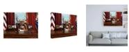 "Trademark Global Lucia Hefferna The Buck Stops Here Canvas Art - 36.5"" x 48"""
