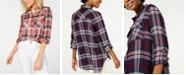 Polly & Esther Plaid Utility Shirt