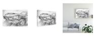 "Trademark Global Ethan Harper Sports Car Study II Canvas Art - 15"" x 20"""