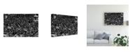"""Trademark Global Jun Zuo Wildebeest in Crossing Canvas Art - 37"""" x 49"""""""