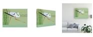 "Trademark Global Marie Sansone Great Blue Heron on Green Canvas Art - 20"" x 25"""