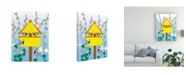 "Trademark Global Marie Sansone Chickadees 2 Canvas Art - 20"" x 25"""