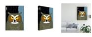 "Trademark Global Marie Sansone Great Horned Owl Dark Tree Canvas Art - 20"" x 25"""