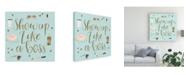 "Trademark Global Jenaya Jackson Boss Ladies VII Mint Canvas Art - 15"" x 20"""