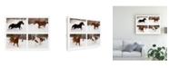 "Trademark Global Monte Nagler Four Horses in Winter Canvas Art - 15"" x 20"""