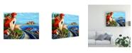 """Trademark Global Oscar Ortiz Ocean Village Canvas Art - 36.5"""" x 48"""""""