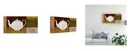 "Trademark Global Pablo Esteban White Teapot the Canvas Art - 19.5"" x 26"""