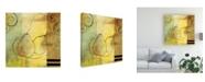 "Trademark Global Pablo Esteban Pear Line Art Abstract Canvas Art - 36.5"" x 48"""