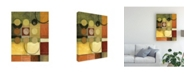 "Trademark Global Pablo Esteban Nine Circles, One Black Canvas Art - 27"" x 33.5"""