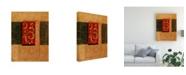 "Trademark Global Pablo Esteban Red Stamp Orange 1 Canvas Art - 15.5"" x 21"""