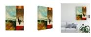 "Trademark Global Pablo Esteban Bold Gematric Panels 7 Canvas Art - 27"" x 33.5"""