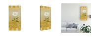 "Trademark Global Pablo Esteban White Floral Yellow 3 Canvas Art - 27"" x 33.5"""
