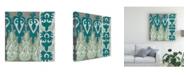 "Trademark Global Chariklia Zarris Teal Tapestry II Canvas Art - 15.5"" x 21"""