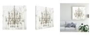 "Trademark Global Jennifer Goldberger Shiplap Chandelier I Canvas Art - 36.5"" x 48"""