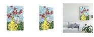 "Trademark Global Melissa Wang Elegant Arrangement I Canvas Art - 19.5"" x 26"""