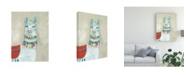 "Trademark Global Jennifer Goldberger Llama Fun I Canvas Art - 36.5"" x 48"""