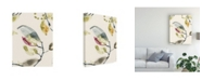 "Trademark Global Jennifer Goldberger Leaf Branch Triptych II Canvas Art - 19.5"" x 26"""