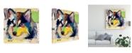 "Trademark Global Michel Keck Siberian Husky Abstract Canvas Art - 15.5"" x 21"""