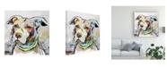 """Trademark Global Michel Keck Pitt Bull Canvas Art - 15.5"""" x 21"""""""