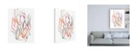 "Trademark Global Jennifer Goldberger Connected Orbits II Canvas Art - 36.5"" x 48"""