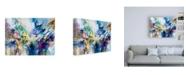 "Trademark Global Jennifer Gardner Rainbow Blue V Canvas Art - 19.5"" x 26"""