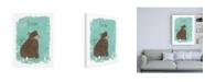 "Trademark Global June Erica Vess Critter Cameo IV Canvas Art - 15.5"" x 21"""