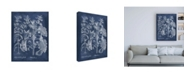 "Trademark Global Vision Studio Besler Leaves in Indigo I Canvas Art - 19.5"" x 26"""