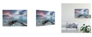 "Trademark Global Claudio Coppari Path to the Light Pier Canvas Art - 20"" x 25"""