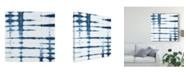 "Trademark Global Chariklia Zarris Indigo Tiles V Canvas Art - 20"" x 25"""