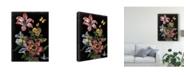 "Trademark Global Naomi Mccavitt Dark Floral I Canvas Art - 20"" x 25"""