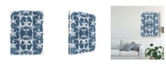 "Trademark Global June Erica Vess Batik Shell Patterns II Canvas Art - 15"" x 20"""