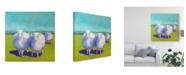 "Trademark Global Carol Young Sheep Pals I Canvas Art - 20"" x 25"""