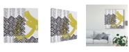 "Trademark Global June Erica Vess Block Print Abstract IX Canvas Art - 20"" x 25"""