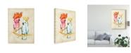 "Trademark Global Chariklia Zarris Fanciful Birds IV Canvas Art - 15"" x 20"""