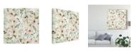 "Trademark Global Kristy Rice The Joy of White Pattern Ib Canvas Art - 15"" x 20"""