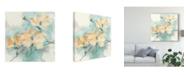 """Trademark Global Chris Paschke Teal Buds II Canvas Art - 15"""" x 20"""""""