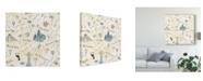 "Trademark Global Laura Marshall World Traveler Pattern V Canvas Art - 15"" x 20"""